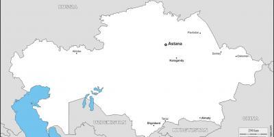 Carte Asie Centrale Vierge.Kazakhstan Carte Vierge Carte Du Kazakhstan Vide Asie